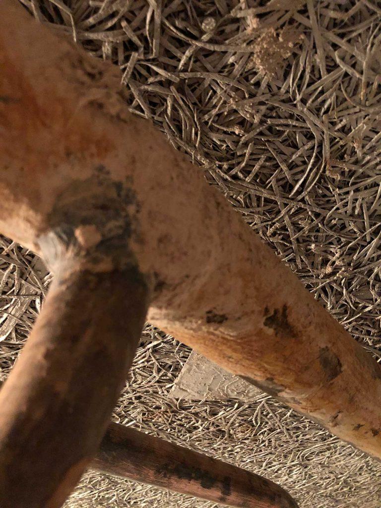 Putken pinnalla asbestia